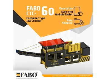 FABO CTC-60 CONTAINER TYPE JAW CRUSHER - crusher