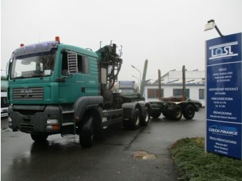 Timber transport MAN TGA33.430 6x6 EURO 3 + Lemex