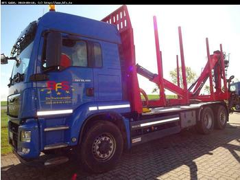 Timber transport MAN TGS 26.480 6x4H-2 BL Kurzholz