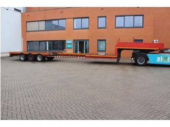Low loader semi-trailer Broshuis 3-ass. Uitschuifbare semi dieplader