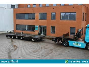 Low loader semi-trailer Floor 4-ass. Uitschuifbare semi dieplader