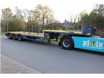 Low loader semi-trailer Nooteboom 3-ass. Semi dieplader // 2x gestuurd