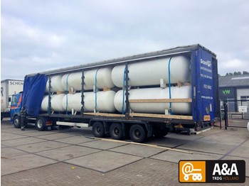Tank semi-trailer Diversen 12 X GAS LPG TANK LOADED ON 13.60 TRAILER