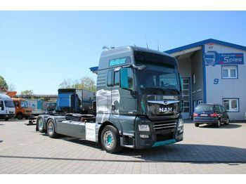 Container transporter/ swap body truck MAN TGX 26.640 D38 TOP-Zustand Voll Voll