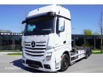 MERCEDES-BENZ Actros 2548 , E6 , 6X2 , chassis 7,2m , BDF , GIGASPACE , 2 beds - container transporter/ swap body truck