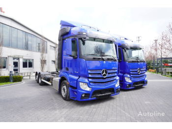 MERCEDES-BENZ Actros 2548 , E6 , 6x2 , MEGA , 190.000km , BDF / chassis 7,7m , - container transporter/ swap body truck