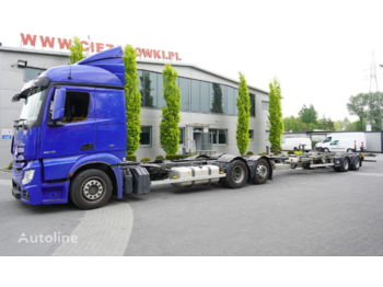 MERCEDES-BENZ MERCEDES-BENZ WECON Actros 2548 , E6 , MEGA , BDF , chassis 7,7m Actros 2548 , E6 , MEGA , BDF , chassis 7,7m BDF trailer , 7,5m , 2XSAF - container transporter/ swap body truck