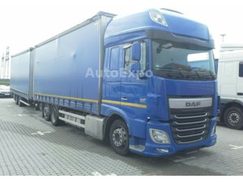 DAF XF 460 SSC FAN Low-Deck,mit Anhänger,2x LBW 1.5t  - curtainsider truck