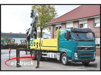 Volvo FH 420, Baustoff,  6x4, Fassi F215 AS 22,  - dropside truck