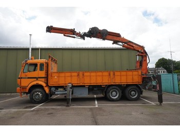 Mercedes-Benz 2538 6x4 OPEN BOX WITH TEREX/ATLS 390.2 CRANE WITH JIB - truck